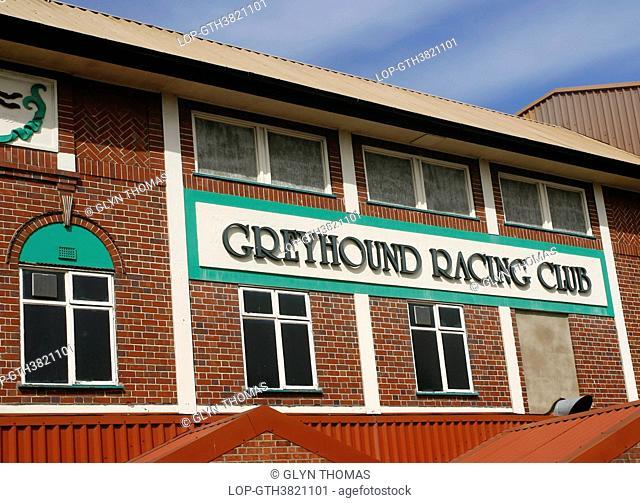 England, West Midlands, Birmingham. Perry Barr Stadium, a greyhound racing and speedway venue