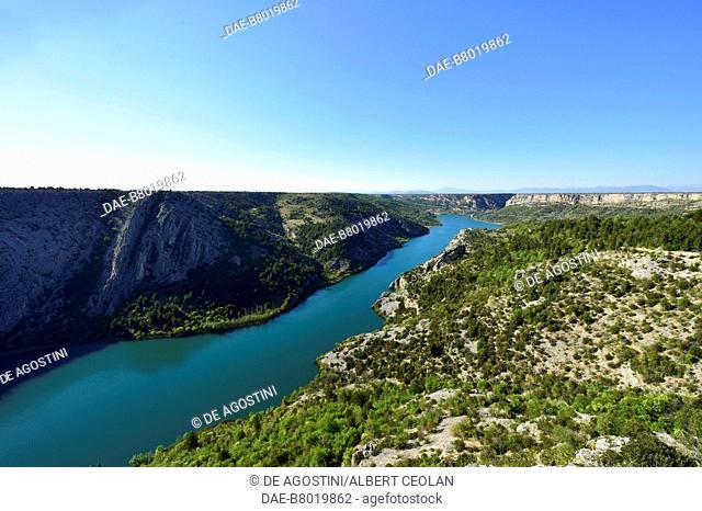 The course of the Krka River near Roski Slap, Krka National Park, Croatia