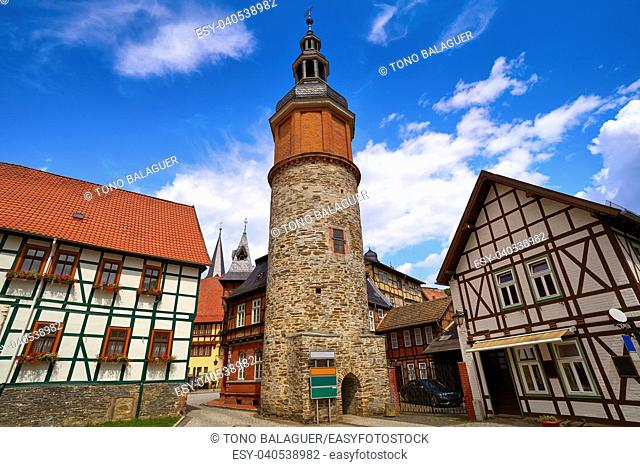 Saiger old tower in Stolberg at Harz Germany