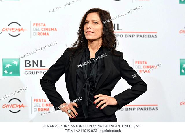The director Melora Walters poses during the photocall for 'Drowing' at the 14th annual Rome Film Festival, in Rome, ITALY-20-10-2019