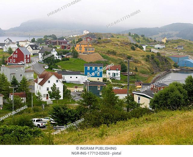 Houses in Trinity, Bonavista Peninsula, Newfoundland And Labrador, Canada