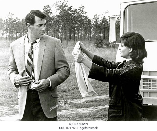 The actors Rock Hudson and Claudia Cardinale in a scene from the film Blindfold, USA 1966