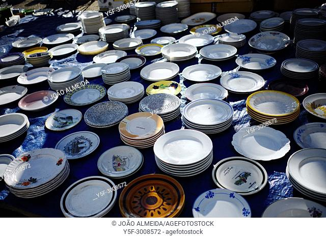 Lisbon's traditional flea market that takes place every Saturday and Tuesday
