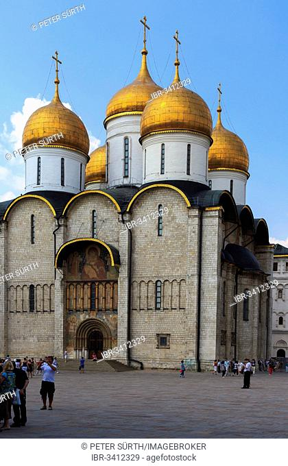 Dormition Cathedral or Uspensky Sobor in the Kremlin, Moskau, Moscow Oblast, Russia