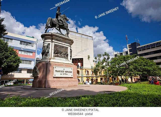 Equestrian statue of Francisco Morazan in Plaza Morazan, Tegucigalpa, Honduras