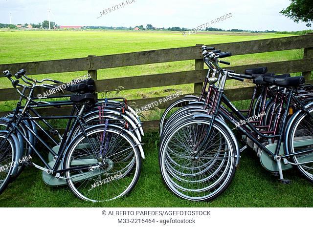 Bikes, Friesland province (Fryslan), Netherlands