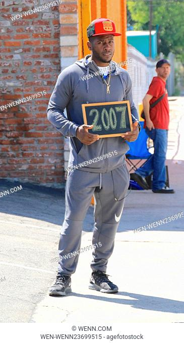 Celebrities at the 'Dancing with the Stars' rehearsal studios Featuring: Antonio Brown Where: Hollywood, California, United States When: 02 Apr 2016 Credit:...