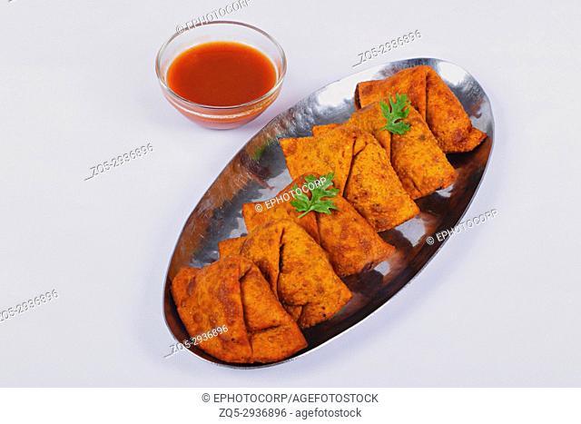 Indian snack, Spicy Potato Samosa