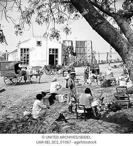 Paraguayer-Markt in Posadas, Argentinien 1964. Paraguay mart in Posadas, Argentina 1964