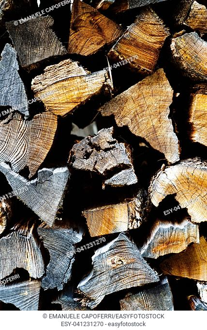 pieces of stacked firewood background
