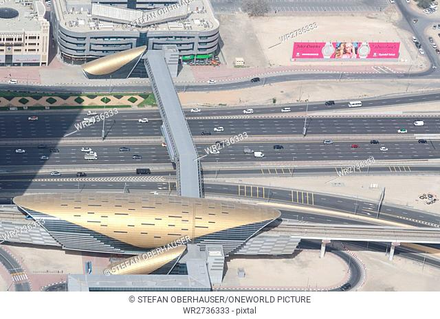 United Arab Emirates, Dubai, multi-lane highway