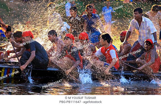 Boat race competition has been holding for two hundred fifty years due to the Laxmi Puja  Hindu religious festival at Kaligonj
