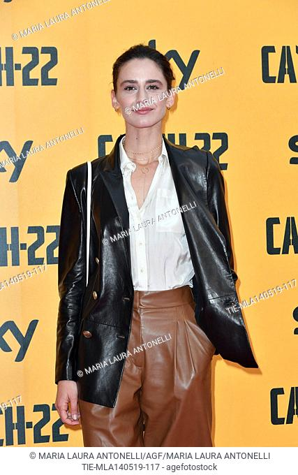Valentina Belle' during the Red carpet for the Premiere of film tv Catch-22, Rome, ITALY-13-05-2019