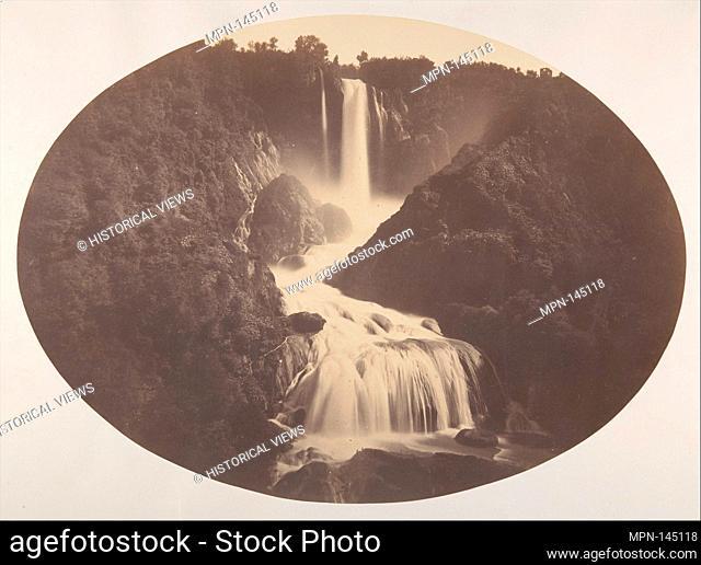 Falls of Terni. Artist: Robert Macpherson (British, Tayside, Scotland 1811-1872 Rome); Date: ca. 1860; Medium: Albumen silver print from glass negative;...