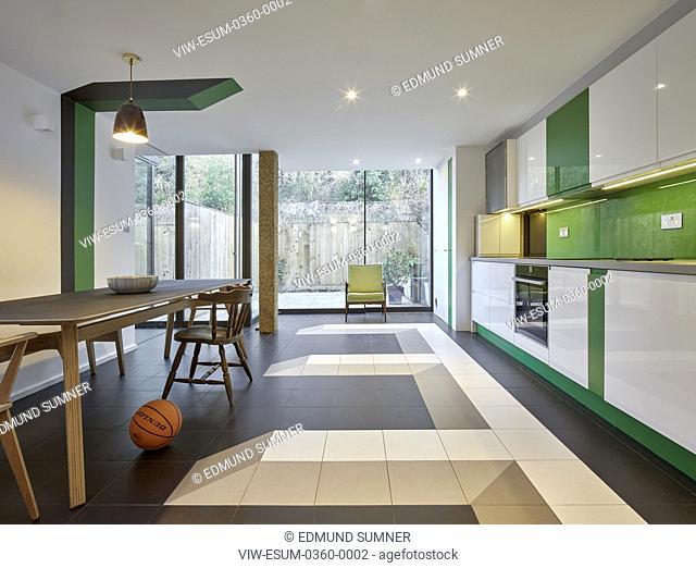 Interior view towards garden. Sean Griffiths, London, United Kingdom. Architect: Sean Griffiths , 2018