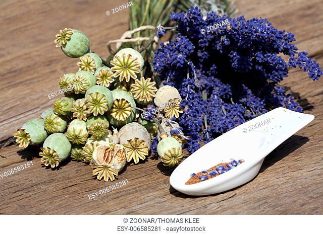 Summer harvest - Lavender and poppy
