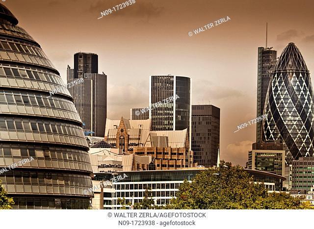 England, London, City of London Business Area Skyline