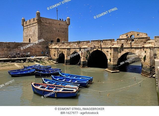 Portuguese fortress in the historic town of Essaouira, Unesco World Heritage Site, Morocco, North Africa