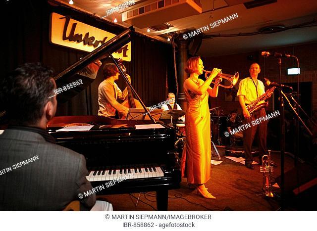Jazz band Boperators with Annette Neufer, Jazz Club Unterfahrt, Haidhausen, Munich, Bavaria, Germany, Europe