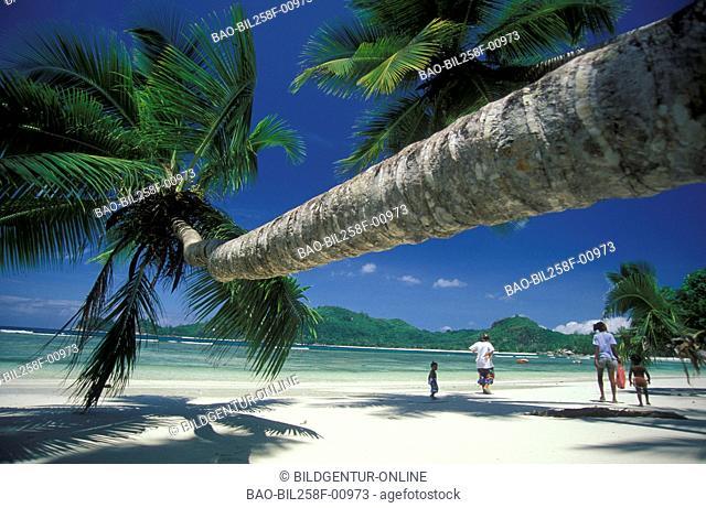 A dream beach on the island Praslin on the Seychelles in the Indian ocean