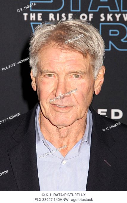 """Harrison Ford 12/16/2019 """"""""Star Wars: The Rise of Skywalker"""""""" World Premiere held at the Dolby Theatre in Hollywood, CA. Photo by K"""