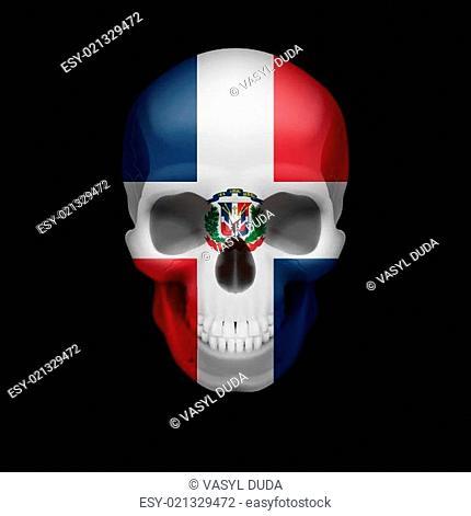Dominican Republic flag skull