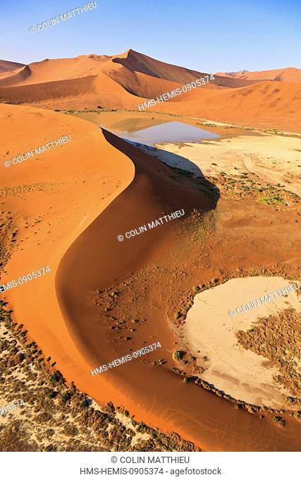 Namibia, Hardap region, Namib desert, Namib-Naukluft national park, Namib Sand Sea listed as World Heritage by UNESCO, near Sossusvlei sand dunes, Hidden Vlei