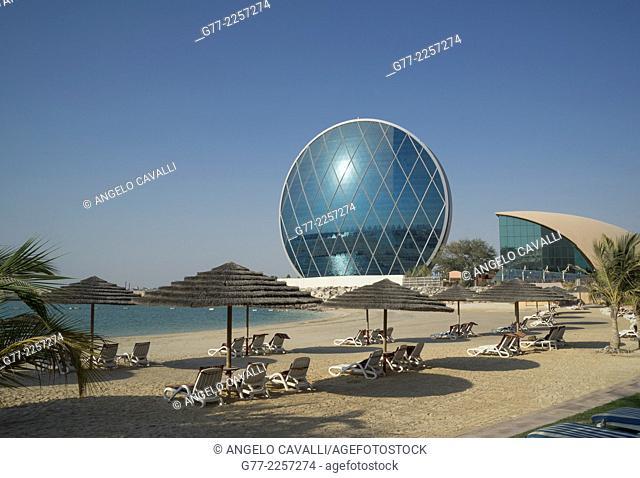 Aldar HQ circular building in Abu Dhabi, UAE