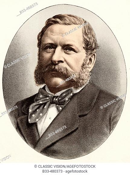 William Henry Waddington,1826-1894. French statesman who was Prime minister in 1879. From a photograph by Messrs. Drouet and Lafontaine, Paris