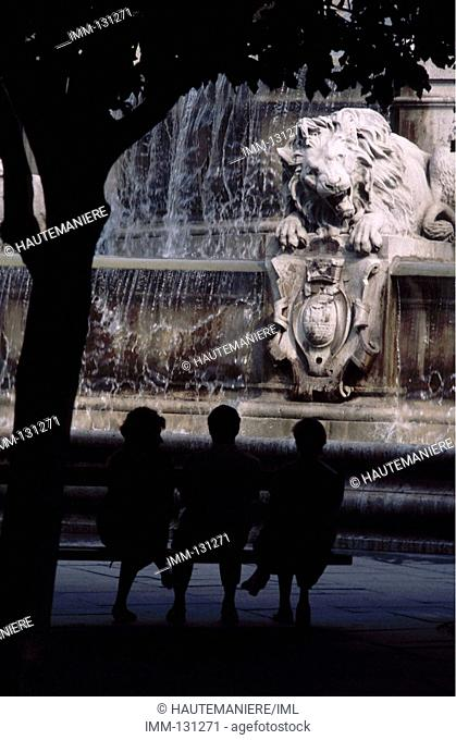 Paris, a Detailed View St  Sulpice fountain 1844 by Visconti