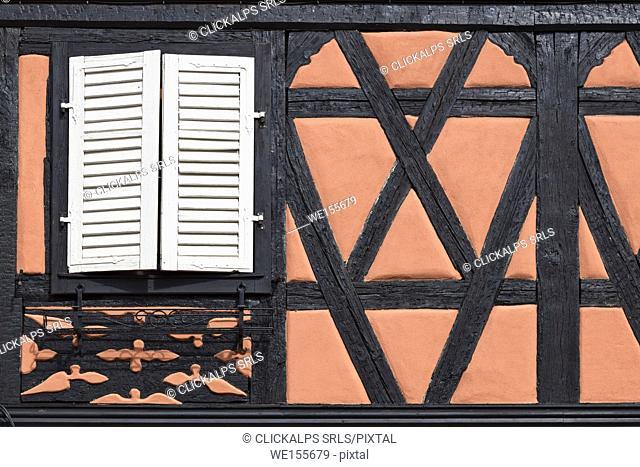 Rebeauvillé,Alsace, France. Typical alsatian houses