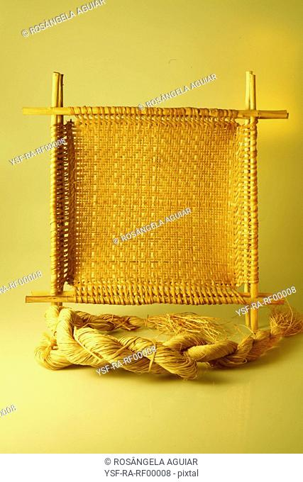 Loom, dots, fabric, Belém, Pará, Brazil