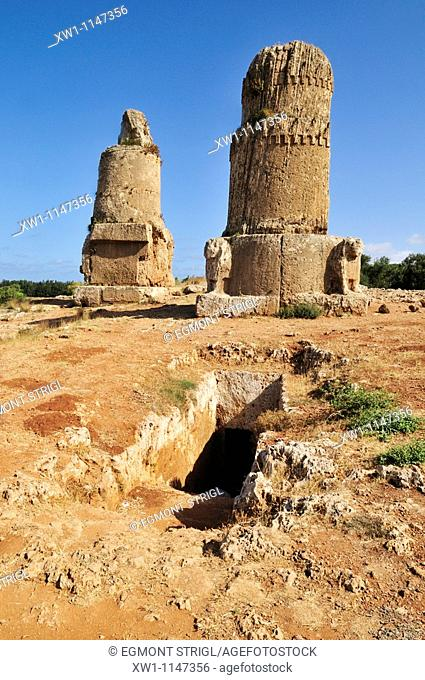grave tower at the phoenician archeological site of Amrit near Tartus, Tartous, Syria, Middle East, West Asia