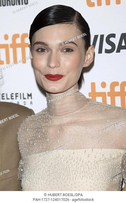 Tilda Cobham-Hervey attends the premiere of 'I Am Woman' during the 44th Toronto International Film Festival, tiff, at Elgin Theatre in Toronto, Canada