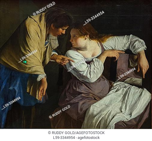 'Martha Reproving her Sister Mary', 1620, Orazio Gentileschi (1563-1639)