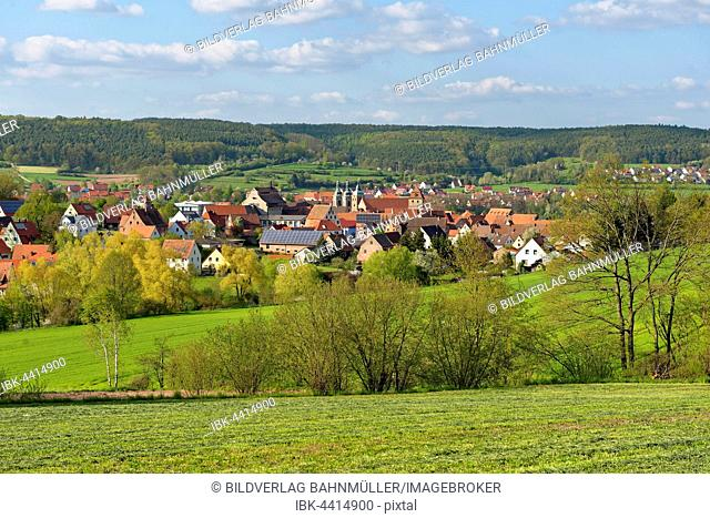 Village Spalt, Middle Franconia, Franconia, Bavaria, Germany