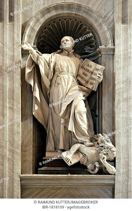 Monument to St. Ignatius of Loyola, St. Peter's Basilica, Vatican, Rome, Lazio region, Italy, Europe