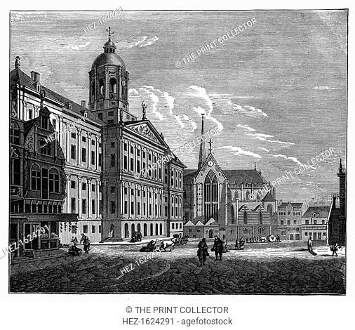 The Palais Royal, Amsterdam, c1890. An engraving from Robert Brown's The Countries of the World, Cassell, (London, Paris, c1890)