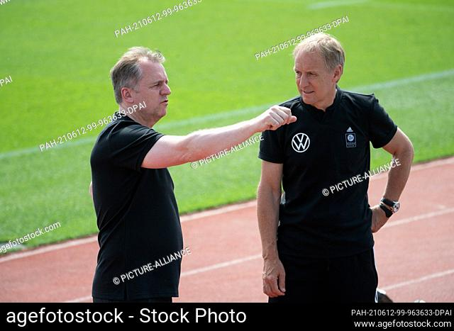 12 June 2021, Bavaria, Herzogenaurach: Football: European Championship, national team, training on the Adi Dassler sports field