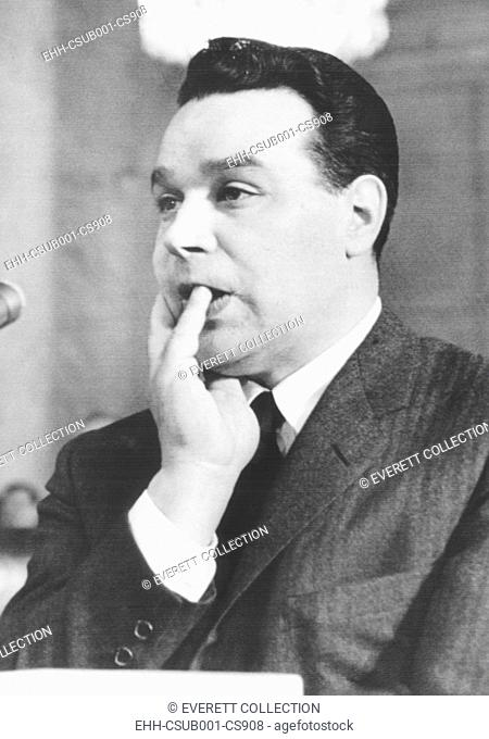 Michael James Genovese, alleged boss of the Pittsburgh crime family. Ca. 1960. He was among the gangsters who attended the Apalachin, N. Y