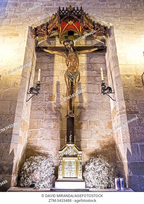 Cristo crucificado. Iglesia de San Nicolás. Burgos. Castilla León. España