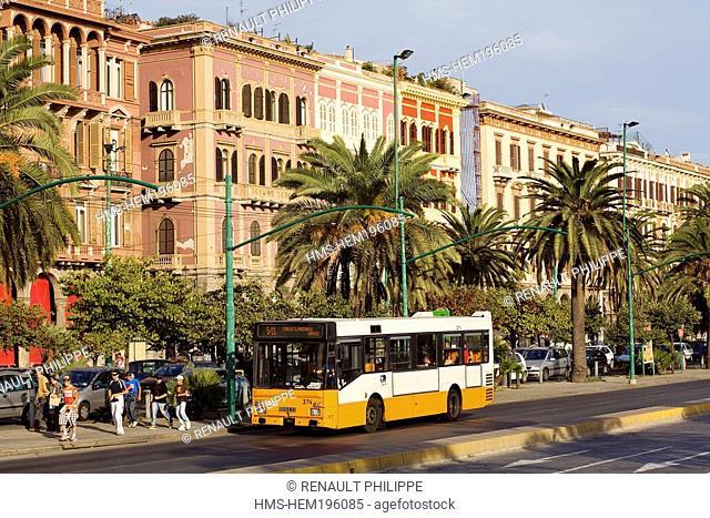 Italy, Sardinia, Cagliari province, Cagliari, the Via Roma