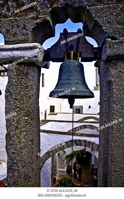Greece, Dodecanese, Patmos, monastery of St John the theologian, bell tower
