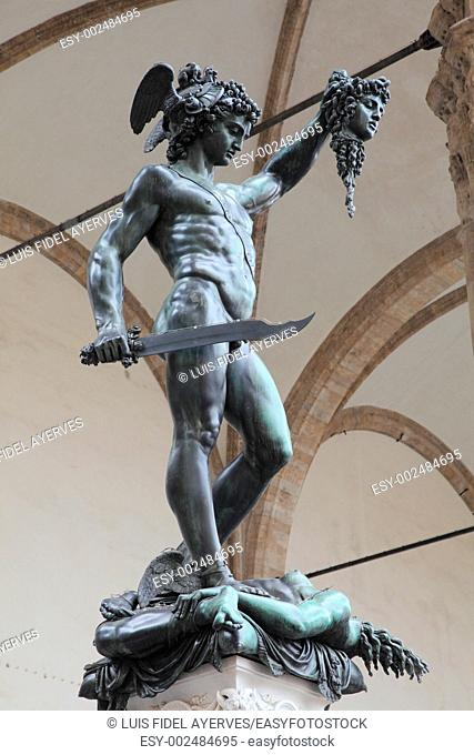 Italy, Tuscany, Florence, Statue of Perseus