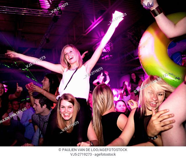 's Hertogenbosch, Netherlands, girls having fun on a night out