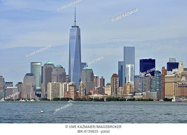 South Manhattan with newly completed Freedom Tower, Manhattan, New York City, New York, USA