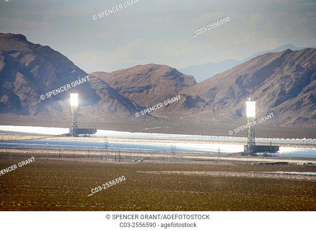 The Ivanpah Solar Electric Generating System is a concentrated solar thermal plant in the California Mojave Desert with a gross capacity of 392 megawatts