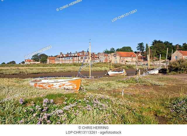 England, Norfolk, Blakeney. Blakeney Quay on a summer evening on the north Norfolk coast