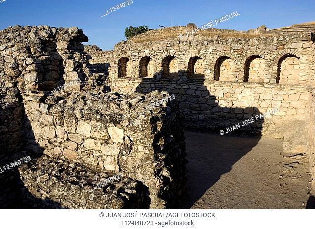 Saelices Provincia de Cuenca Castilla la Mancha España Parque arqueológico de Segóbriga Ciudad Romana