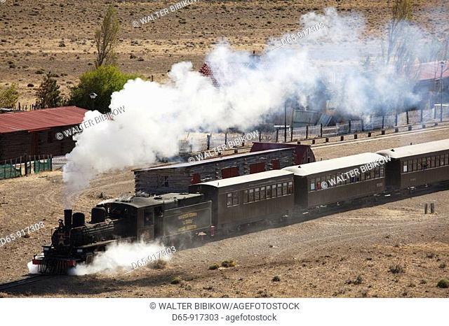 La Trochita narrow gauge steam train (aka Old Patagonian Express), Esquel, Chubut Province, Patagonia, Argentina